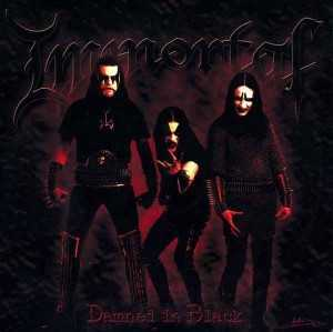 Immortal - damned in black (red-gold splatter vinyl, lim. 500), LP