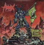 Hirax - thrash and destroy (cream brown splatter vinyl), 2-LP