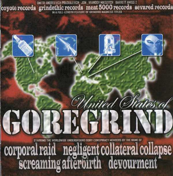 Devourment / Screaming Afterbirth / Corporal Raid / Negligent Collateral Collapse - united states of goregrind (4-way Split-CD)