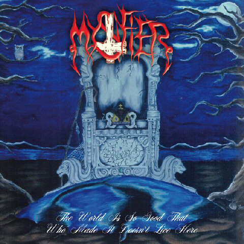 Mystifier - the world is so good that who made it doesn't live here (clear blue-white-black splatter vinyl)