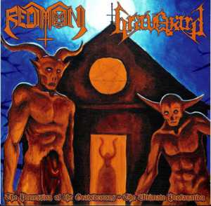 Redimoni / Graveyard - the procession of the gravedemons - the ultimate profanation (black vinyl, lim. 250), Split-EP
