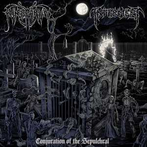 Funebrarum / Interment - conjuration of the sepulchral (black vinyl), Split-LP