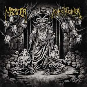 Master / Nunslaughter - master / nunslaughter (black vinyl, lim. 400), Split-LP