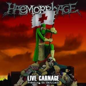 Haemorrhage - live carnage-feasting on Maryland (US version, clear red vinyl, lim. 100)