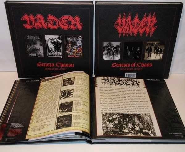 Vader - genesis of chaos 1983-1990 - geneza chaosu MCMLXXIII - MCMXC (Hardcover Book + 3 CD's)