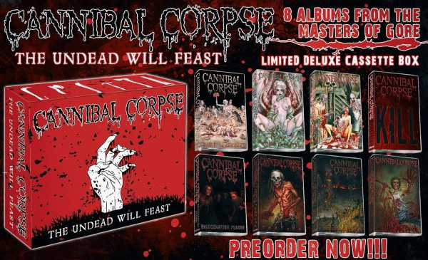 Cannibal Corpse - the undead will feast (8x Audio Kassetten Box)