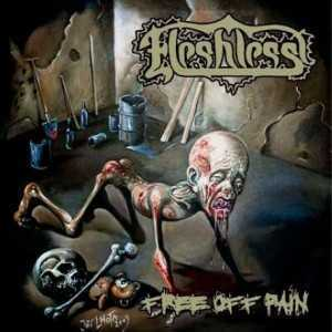 Fleshless - free off pain / stench of rotting heads (CD)
