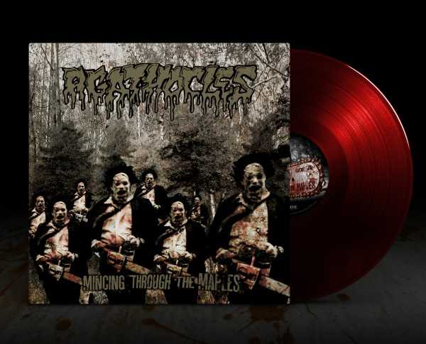 Agathocles - mincing through the maples (clear red vinyl, lim. 100), LP