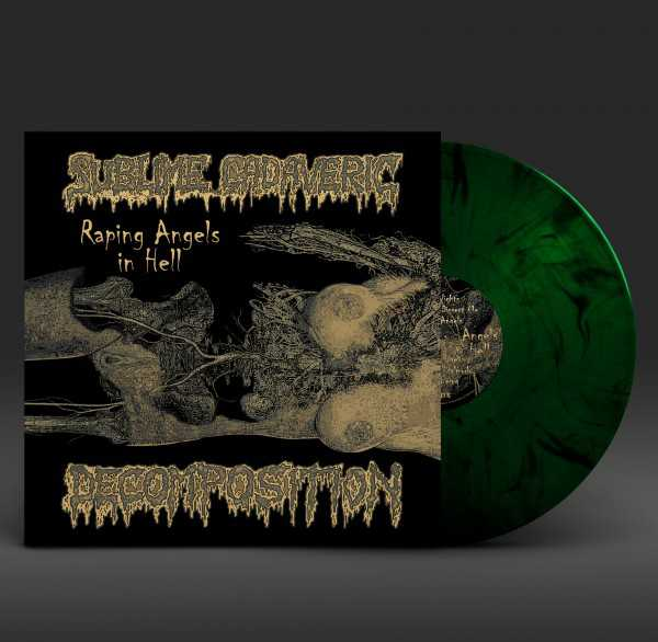 Sublime Cadaveric Decomposition - raping angels in hell (green/black marbled vinyl, lim. 100), LP