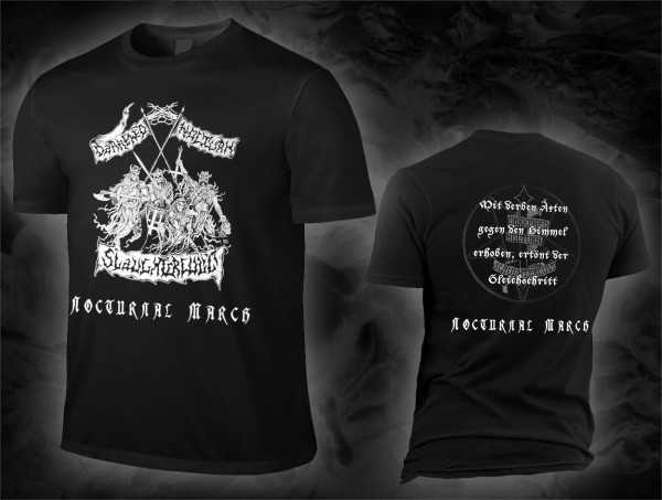 Darkened Nocturn Slaughtercult - nocturnal march (T-Shirt)