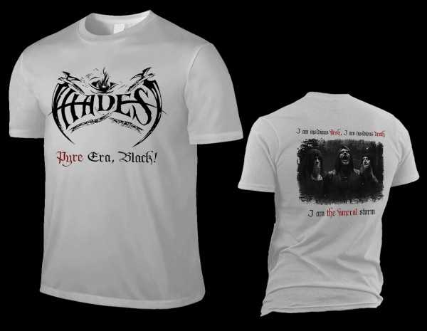 Hades Almighty - pyre era, black! (silber graues T-Shirt)