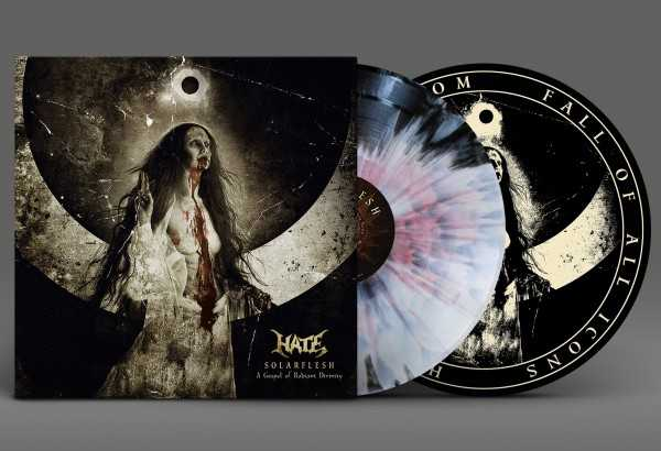 Hate - Solarflesh, a gospel of radiant divinity (black-white-red splatter vinyl, lim. 100), 2-LPHate - Solarflesh, a gospel of radiant divinity (coloured vinyl Aside-Bside w/ oxblood Splatter, lim. 100), 2-LP