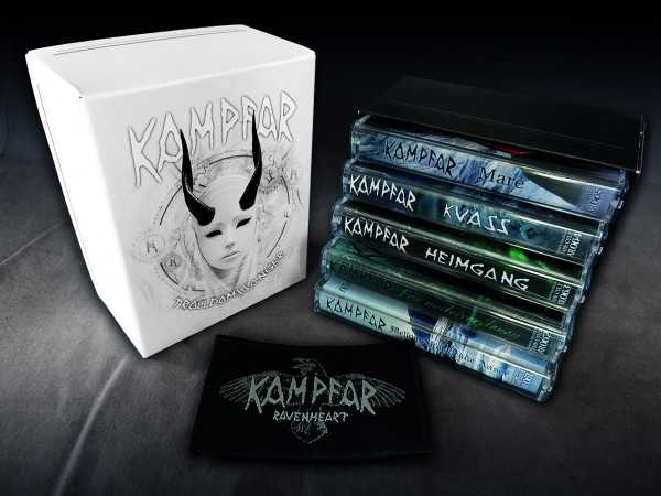 Kampfar - Trolldomssanger (5x Audio Kassetten Box + Patch)