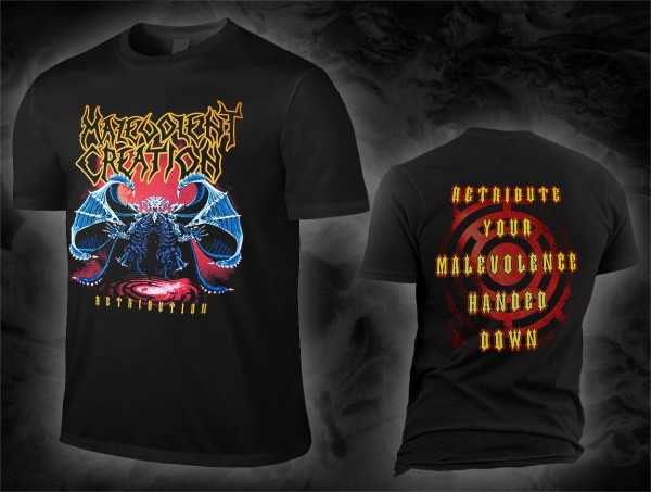 NEW /& OFFICIAL! Malevolent Creation /'Retribution/' T-Shirt