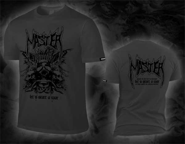 Master - let's start a war (dark grey T-Shirt)