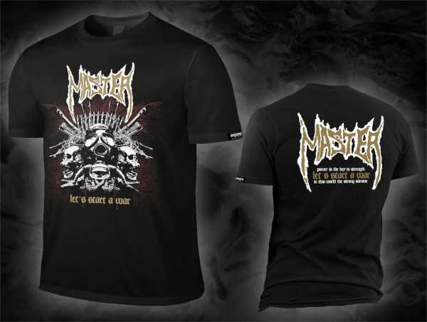 Master - let's start a war (schwarzes T-Shirt)