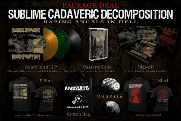 Sublime Cadaveric Decomposition - raping angels in hell (PACKAGE DEAL)