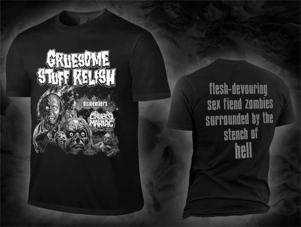 GRUESOME STUFF RELISH dismembers Cropsy Maniac (T-Shirt)