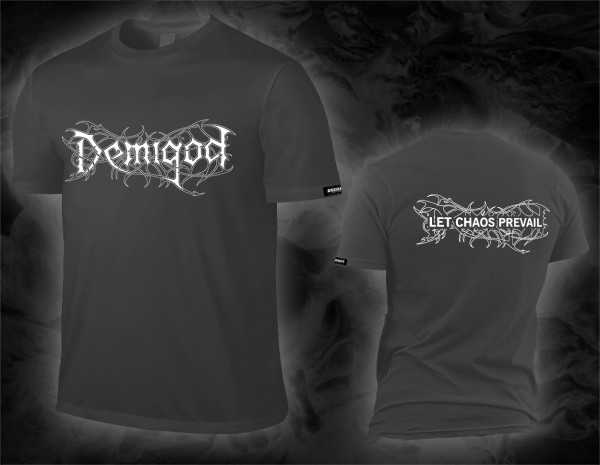 Demigod - let chaos prevail / logo (graues T-Shirt)