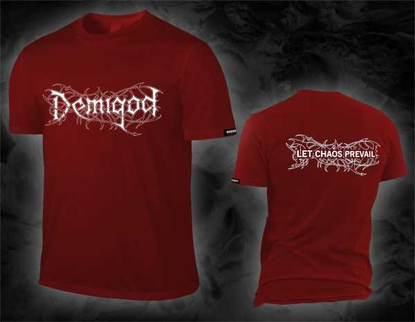 Demigod - let chaos prevail / logo (tango red T-Shirt)